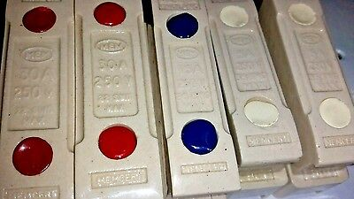 MEM Memcert Ceramic Fuse  5amp 15amp and 30 amp (no holders left *)