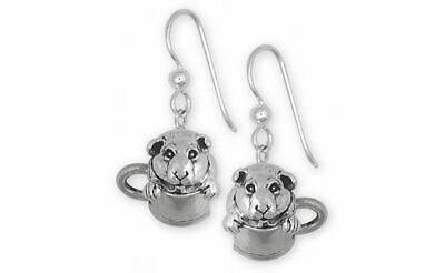Guinea Pig Earrings Jewelry Sterling Silver Handmade Piggie Earrings GP9-E
