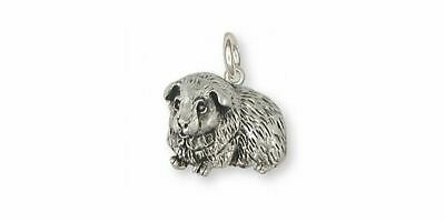 Guinea Pig Charm Jewelry Sterling Silver Handmade Piggie Charm GP8-C