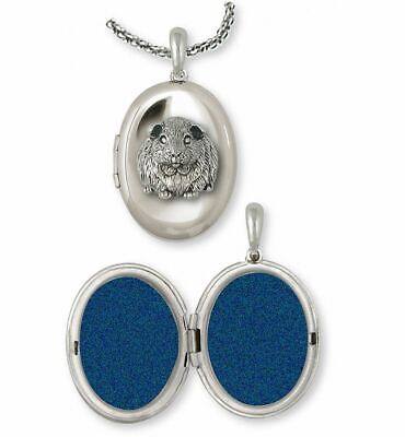 Guinea Pig Photo Locket Jewelry Sterling Silver Handmade Piggie Photo Locket GP1