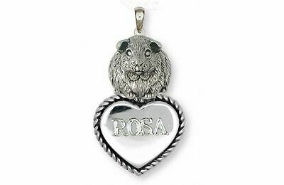 Guinea Pig Pendant Jewelry Sterling Silver Handmade Piggie Pendant GP12X-TP