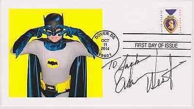 Signed Adam West Fdc Autographed First Day Cover Batman