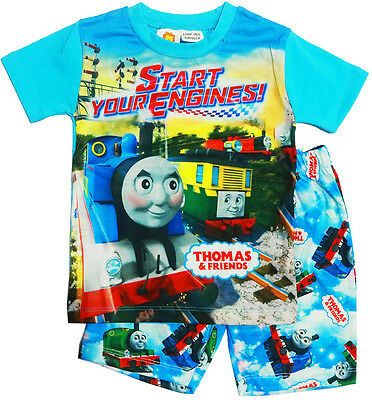 New Size 2-7 Pyjamas Thomas The Train Boys Summer Sleepwear Gift T-Shirt Tee Pjs