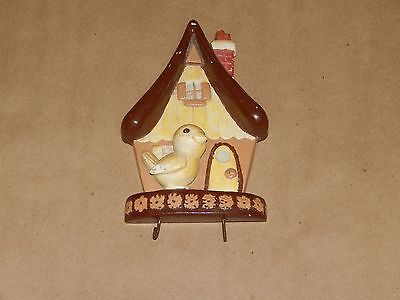 Vintage Chalkware Bird And House