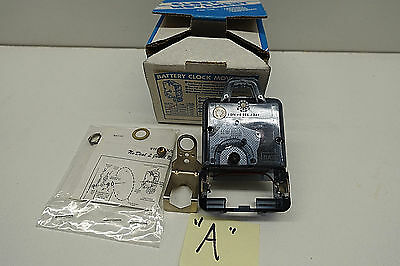 Narco Clock Movement 2 Jewel Battery Powered Made in USA Model 91-EY Transistor