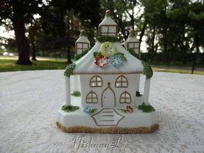 Coalport Bone China Park Lodge House with Applied Flowers Made in England