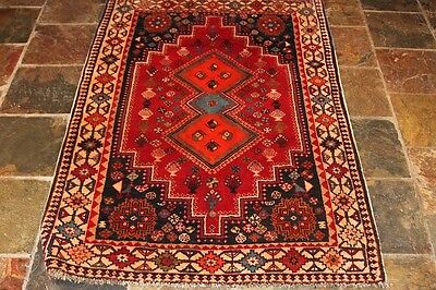QASHQAIi 155x103 GENUINE HAND KNOTTED TRIBAL PERSIAN RUG/ THICK PILE