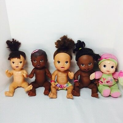 Baby alive lot of 5 dolls hasbro 2009, 2010, 2011, 2012, and 2013.