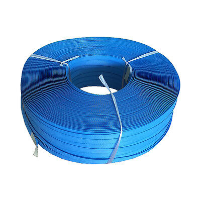 1 Roll - Hand Poly Strap Roll 15mmx1000M Blue Strapping Polypropylene Seal