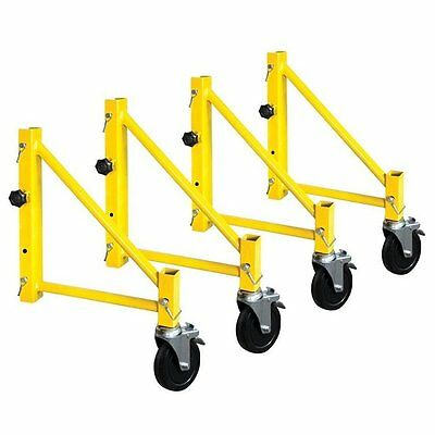 MetalTech I-CISO4PY Jobsite Series Steel Perry Style Scaffold Outriggers, Yellow