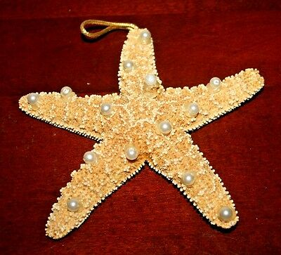 "5""W STARFISH Decorated w Pearls, Purchased in 1990's"