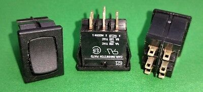 3X CARLING Rocker Switch 621 0218 ON-OFF-ON DPDT 4A 250VAC 8A 125VAC