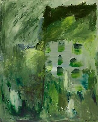 CONTEMPORARY WALL Decor,Acrylic Painting On Canvas,modern Art, 'Green Abstract'