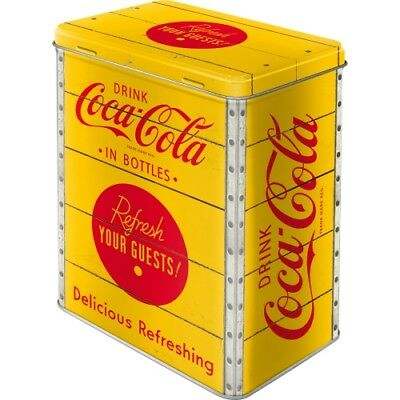Nostalgic-Art - Vorratsdose - L - Coca-Cola - Logo Yellow
