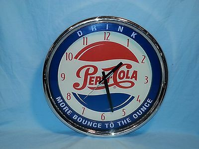 Vintage Pepsi Cola Wall Clock,  Drink - More Bounce to the Ounce