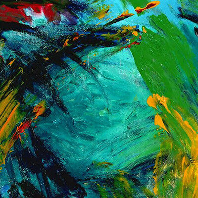 CONTEMPORARY WALL Decor, Abstract Acrylic Painting onCanvas,modern ArtUNDERWATER