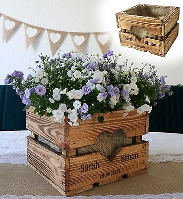 Vintage Wedding Fruit Box Table Decoration Wood Decode Present Flowers Rural