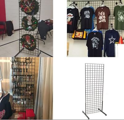 Grid Unit Merchandise Display Clothing Boutiqe Wire Rack Market Metal panel