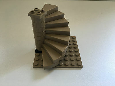 LEGO Staircase Dark Tan Colour Brand New [Base 8x8 plate not included]