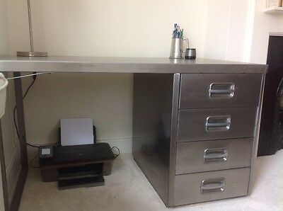 Industrial steel desk - vintage