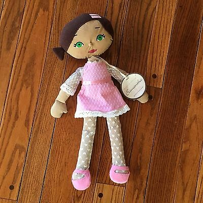 Pottery Barn Kids Doll Brown Hair Fully Dressed Plush Samantha Park Palace Toy