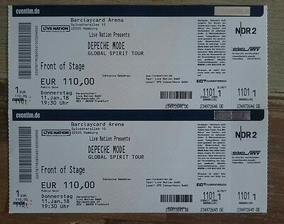 2 tickets depeche mode fos hamburg eur 401 00 picclick de. Black Bedroom Furniture Sets. Home Design Ideas