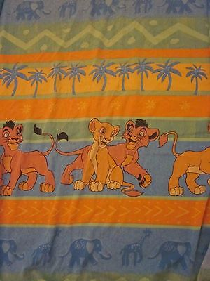 Vintage Lion King Simba's Pride Kovu Kiara Twin Fitted Bed Sheet Craft Fabric