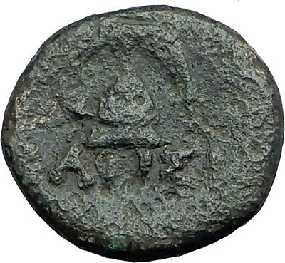 DEMETRIOS I Poliorketes MACEDONIA King Shield Helmet Ancient Greek Coin i62654
