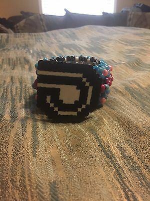 Kandi Cuff Dash Berlin Perler, EDC, UMF, RAVE Rare One Of A Kind