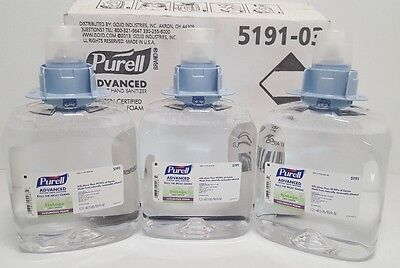New Purell Advanced Instant Hand Sanitizer  3 PACK 5191