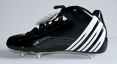 Men's Adidas Black/White Scorch TD D Mid Football Cleats Size 9 1/2 New