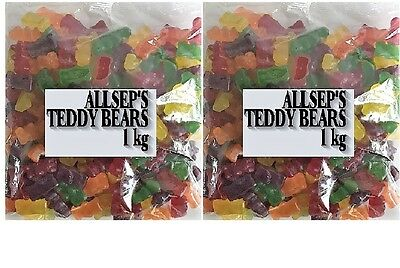 Allseps Teddy Bear 2kg Gummy Mix Sweets Party Favors Lollies Bags  Candy Buffet
