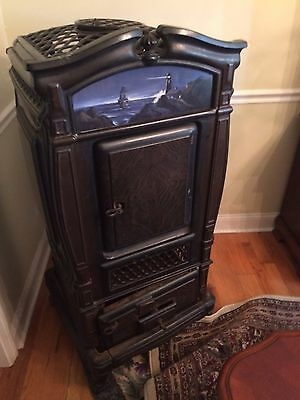Antique Parlor Heater DAUNTLESS No.246 THE WEHRLE Co NEWARK OHIO