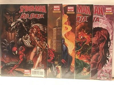 Spider-Man Red Sonja Comic set 1-2-3-4-5 lot Venom Michael Turner & Mel Rubi art