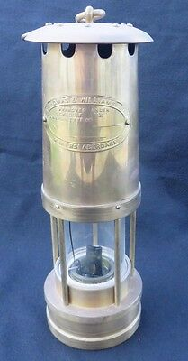 Miner's Safety Lamp Lantern E. Thomas &Williams Makers Aberdare Made in Wales