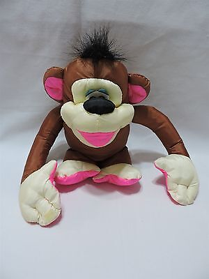 "Fisher Price Puffalump Monkey Chattering Chimps Brown Pink Plush 11"" Toy 1994"