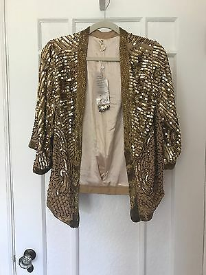 Spell and the Gypsy Stardust Sequin Jacket S/M New with tags