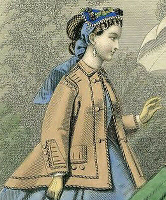 Victorian Clothing Civil War Zouave Jacket New PATTERN One Size Fits Most