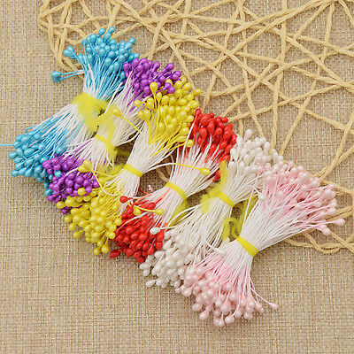 500 Pcs Floral Stamens Double Tips Flower Making DIY Supplies Home Decoration