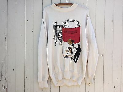 ICEBERG Italy pop art sweater Charlie Chaplin Warhol tomato soup vintage novelty