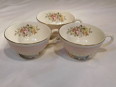 Homer Laughlin Eggshell Pink Arcadia Three teacups
