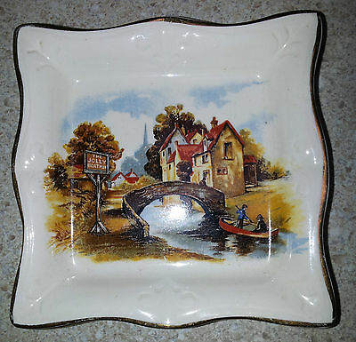 The Jolly Boatman - Square Butter Dish - Lancaster & Sandland