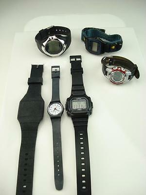 6 Sport Style Watches Casio, Timex -Untested -As Is