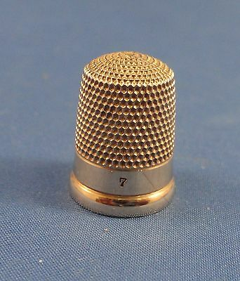 14K Yellow GOLD Sewing THIMBLE