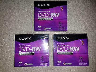Brand New Sealed Sony Handycam Mini DVD-RW 3 Pack 30min 1.4GB Discs
