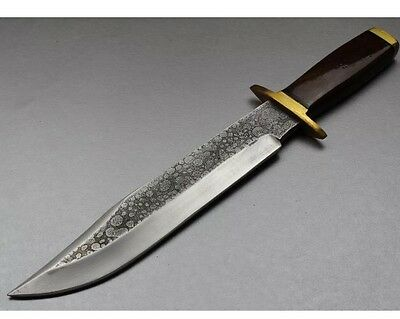 vintage Bowie knife: HAMMERED BLACK HILLS BOWIE HAND FORGED USA