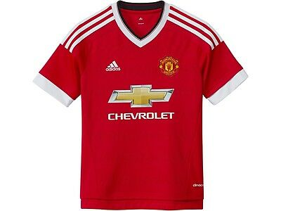RMAN102j: Manchester United brand new official HOME Adidas kids jersey 15-16 tee