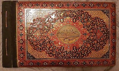 Antique Vintage Perisian Picture Album Qajar Hand Made Paintings Islamic i ran