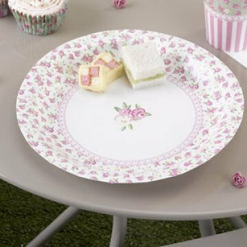 8 x Frills & Spills Paper Plates for Picnics and Parties