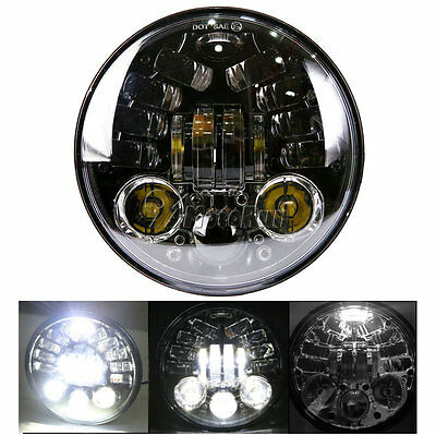 "5.75"" LED Daymaker Projector Headlight For Harley Softail Standard FXST FXSTC"